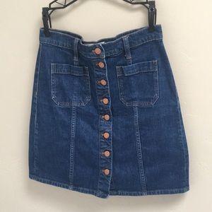 Madewell Denim Burton-Front Skirt